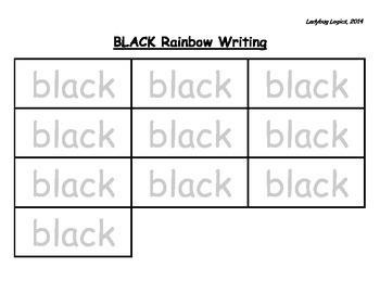 Rainbow Writing - Color Word - Black