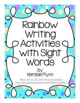 Rainbow Writing Pre-Primer Sight Words