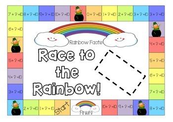 Rainbow fact (Make 10) Race to the Rainbow!