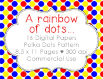 Rainbow of Color {Papers for Commercial Use}