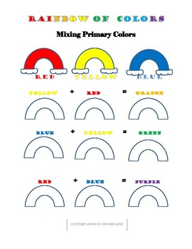 Rainbow of Colors- Mixing Primary Colors