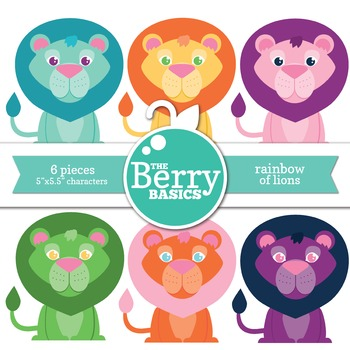 Rainbow of Lions- Freebie 6 Pack