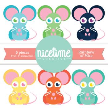 Rainbow of Mice- Freebie 6 Pack