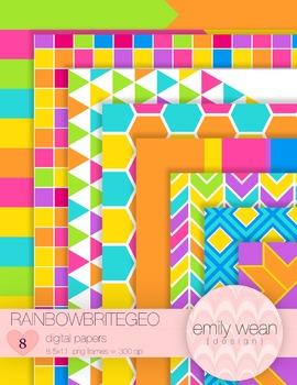 RainbowBriteGeo Digital Papers