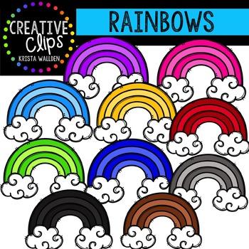 Rainbows {Creative Clips Digital Clipart}