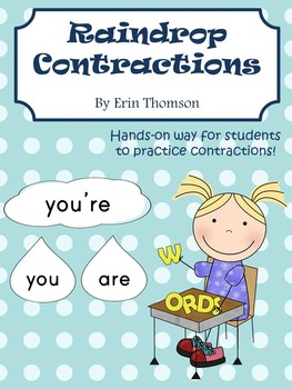 Raindrop Contractions - Literacy Stations
