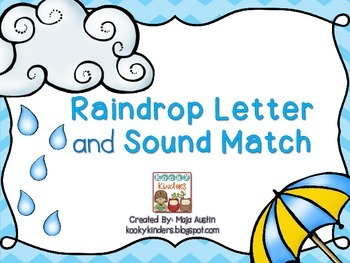 Raindrop Letter and Sound Match