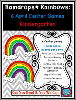 Raindrops and Rainbows Common Core Centers April Bundle