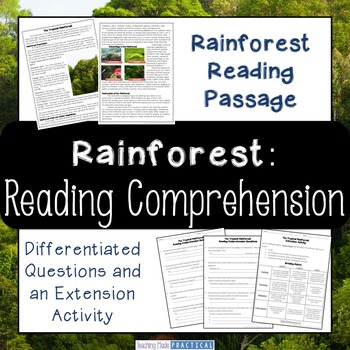 Rainforest Reading Comprehension and Differentiated Questions