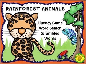 Rainforest Fluency Fun