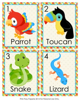 Rainforest Animals Write the Room Activity