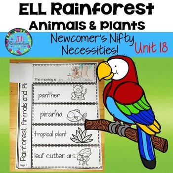ESL NEWCOMERS:  Rainforest Animals and Plants! ESL Resourc