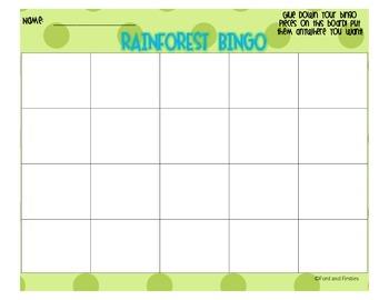 Rainforest Bingo *Freebie!*