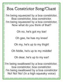 Rainforest Boa Constrictor Song/Chant