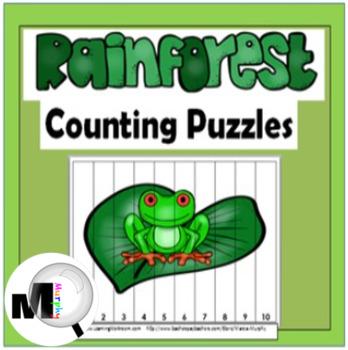 Rainforest Counting Puzzles ~ Rainforest Theme ~ Jungle Th