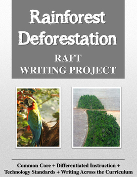 Rainforest Deforestation RAFT Writing Project
