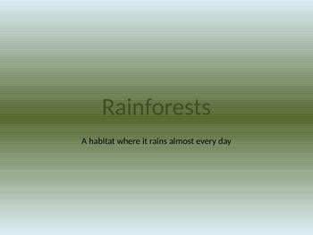 Rainforest Habitat Power Point