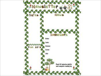 Rainforest, Jungle, Safari, Wild Animal Classroom Newslett