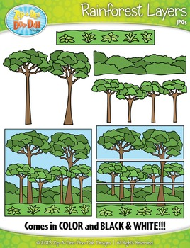 Rainforest Layers Clip Art Set — Build Your Own!