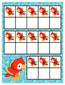 Rainforest Parrot Alphabet Matching Activity