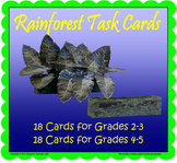 Rainforest Task Cards (Included in Rainforest: Map Mural M