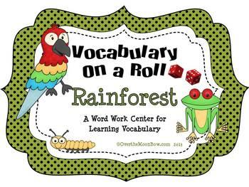 Rainforest Vocabulary On a Roll