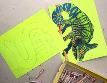Rainforest animals ala sgrafitto