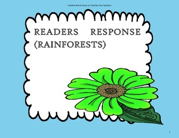 Rainforests - 2nd Grade ( Reading Wonders) - Tri Folds + A