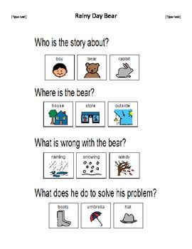 Rainy Day Bear comprehension