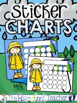 Rainy Day Buddies Sticker Incentive Charts - Full Color an