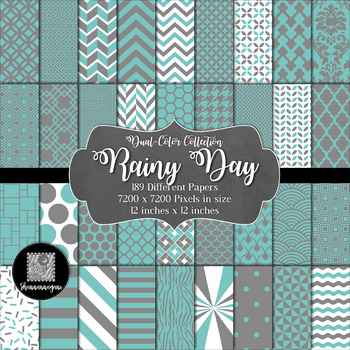 Rainy Day Digital Paper Collection 12x12 600dpi