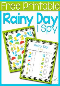 I Spy Counting: Rain