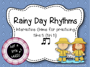 Rainy Day Rhythms--Reading Practice Interactive Game {tika ti}