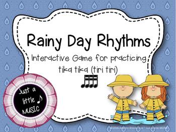 Rainy Day Rhythms--Reading Practice Interactive Game {tika tika}