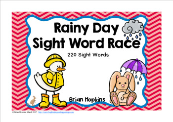 Rainy Day Sight Word Race