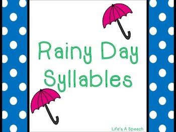 Rainy Day Syllables