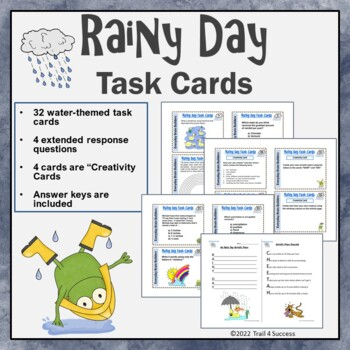 Rainy Day Task Cards - 32 Everyday Brain Builders to Get Y