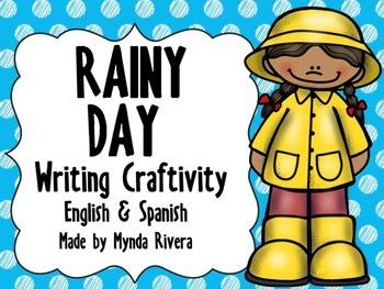 Rainy Day Writing Craftivity (English & Spanish)