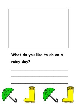 Rainy Day Writing - Kindergarten