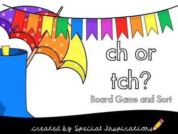 Rainy Days ch/tch Literacy Center Board game, Sort,  and More!