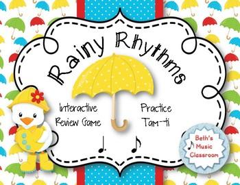 Rainy Rhythms - Spring Interactive Rhythm Game to Practice Tam-ti