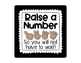 Raise A Number Posters for Classroom Management - Black and Neon