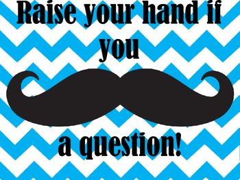 Raise Your Hand Mustache Print
