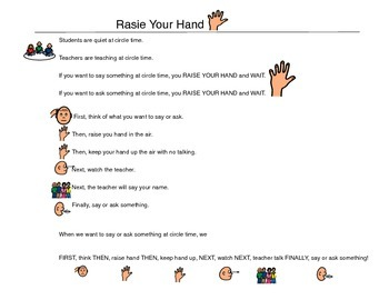 Raise Your Hand at Group - Autism VISUAL