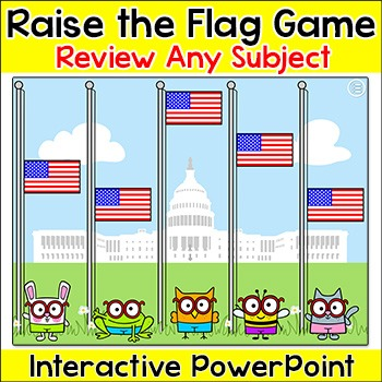 Raise the American Flag Patriotic Review Game for Any Subject