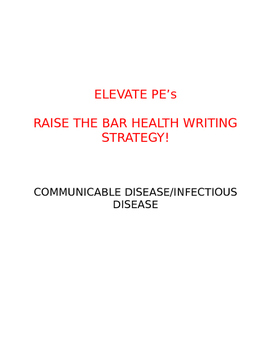 Raise the Bar Health Writing Strategy - Communicable Disease