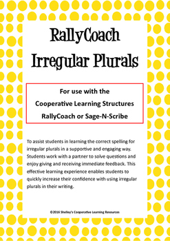 Rally Coach: Irregular Plurals