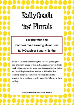 Rally Coach: 'ies' Plurals