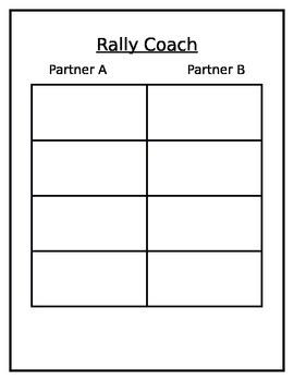 Rally Coach template