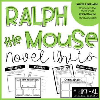 Ralph S Mouse Novel Unit BUNDLE- 3 Novels Included